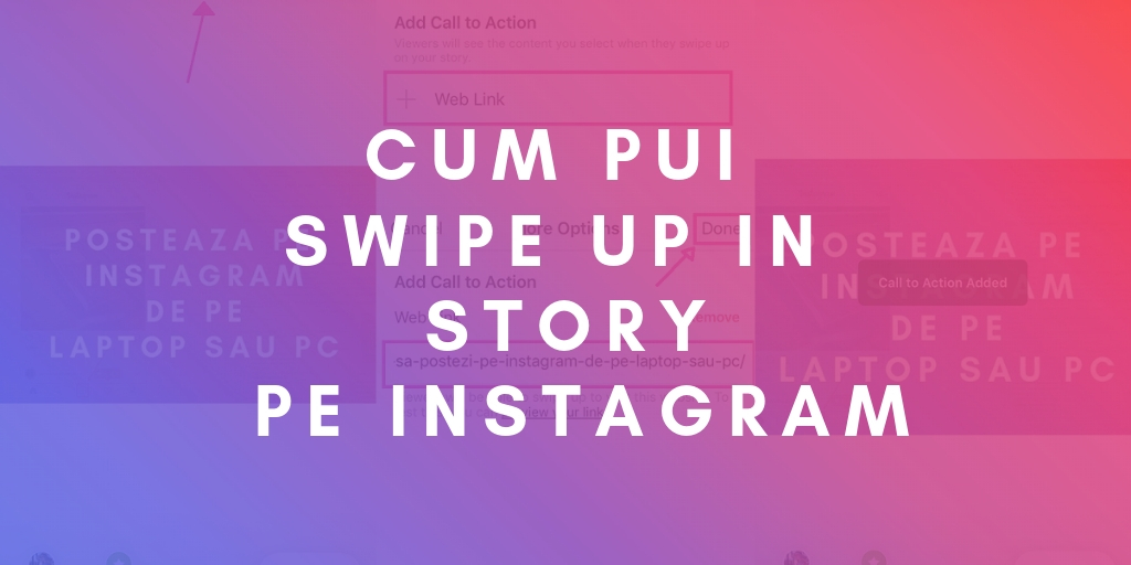 Cum pui Swipe Up in Story pe Instagram