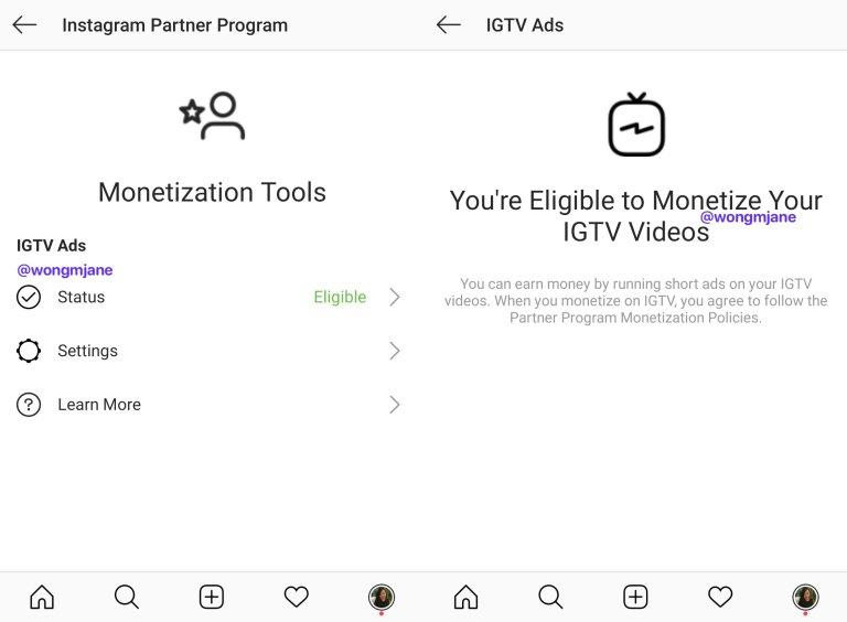 IGTV Ads Monetize