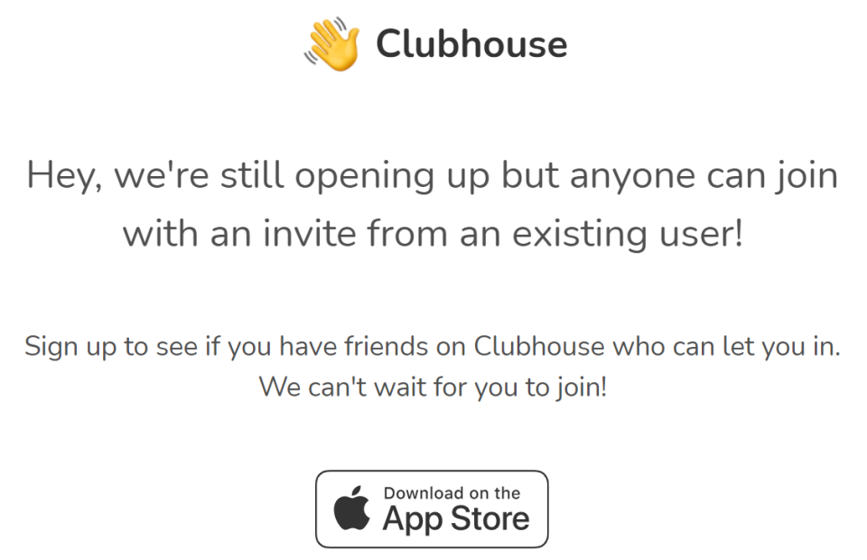 clubhouse iphone