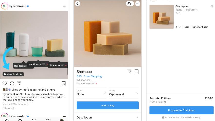 Ce reprezinta postările cu plasare de produse pe Instagram