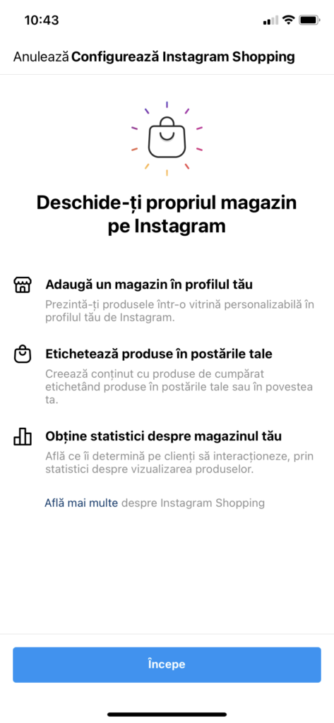 Cum sa configurez Instagram Shop